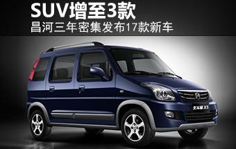 昌河三年密集发布17款新车 SUV增至3款