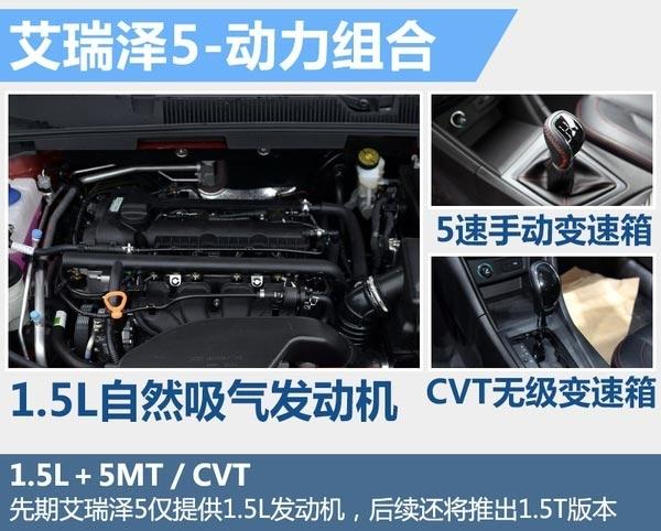 艾瑞泽5启动预售将推7款车 预售6.29-9.09万(图5)