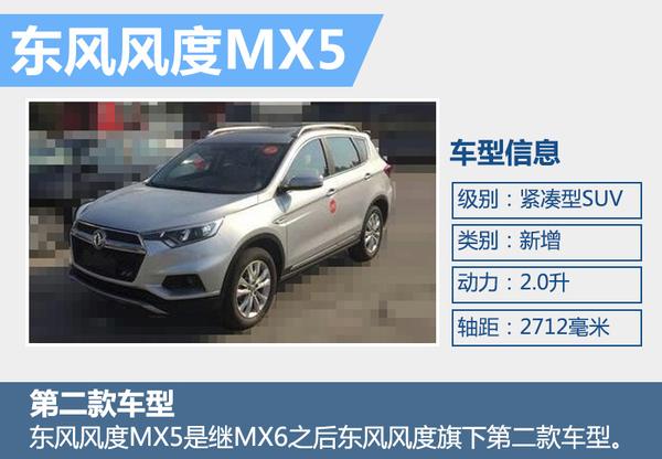 东风风度品牌MX5将于今年内上市 竞争哈弗H6(图2)