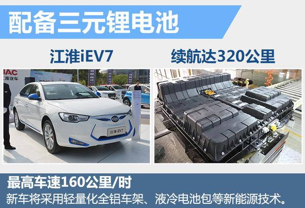 江淮将推纯电动B级车 续航里程超300公里高清图片