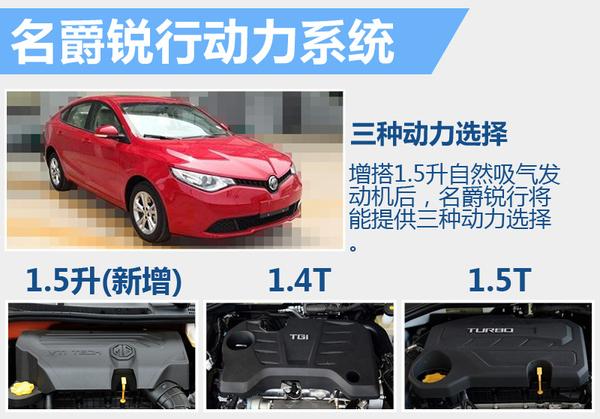 名爵新款锐行6月18日上市 增搭1.5升引擎
