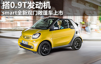 smart全新双门敞篷车上市 搭0.9T发动机