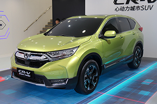 新增混动版 上海车展实拍本田全新CR-V