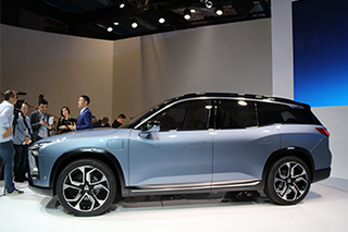 中大型纯电SUV 蔚来首款量产车ES8亮相