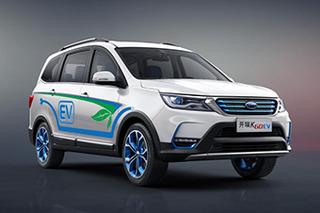 开瑞全新电动SUV今日上市 综合续航里程301公里