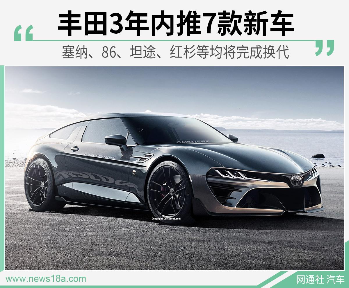 換代86/坦途/越野車等 豐田3年內陸續推7款新車